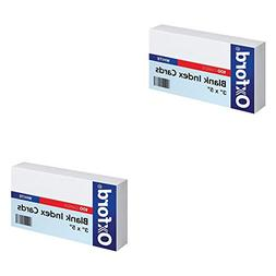 "Oxford Blank Index Cards, 3"" x 5"", White, 100 Per Pack"