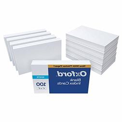 """Oxford Blank Index Cards, 4"""" x 6"""", White, 1,000 Cards"""