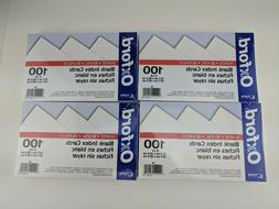 """Oxford Blank Index Cards, 5"""" x 8"""", White, 100/Pack"""
