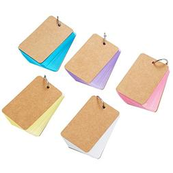 Pangda 250 Pieces Card Kraft Paper Study Cards Unruled Color