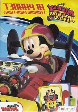 Cards Learning Alphabet DISNEY MICKEY MOUSE Roadster Racers