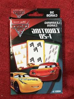 Disney Pixar Cars 3 Learning Cards Counting 1-20 Flash Cards