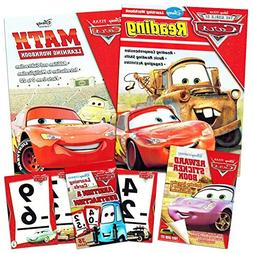 Disney Cars Learning Set Kids -- Reading Workbook, Math Work