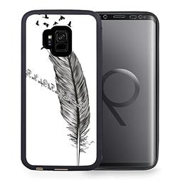Case for Galaxy S9, Black TPU Rubber Gel Design Cover for Sa