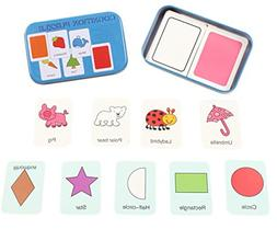 CC-US 32PCS Anti-tear Flash Cards Alphabet Learning Jigsaw P