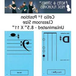 """Notes & Strings Cello 1st Position 8.5""""X11"""" Classroom Size F"""