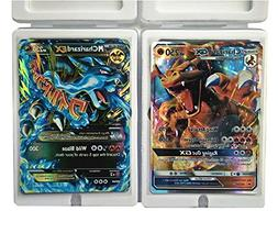 Charizard Mega EX and GX Cards in Box and Sleeve with 5 Rand