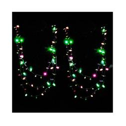 LED Christmas Necklace Light Up Holiday Bulbs Flashing Light