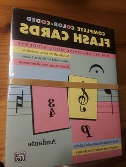 Color-Coded Flash Cards All Beginning Music Students BRAND N