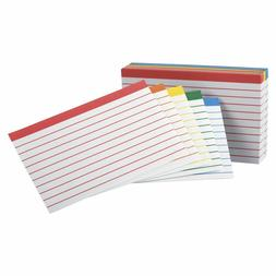 Oxford Color Coded Ruled Index Cards, 3 x 5 Inches, Assorted