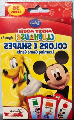COLORS & SHAPES Learning Flash Cards Disney Junior Mickey Mo