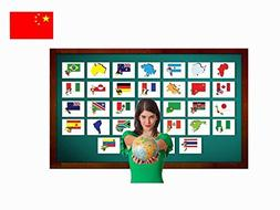 Continents, Countries and Flags Flashcards in Chinese - Trad