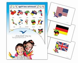 Continents, Countries and Flags Flashcards - Vocabulary Pict