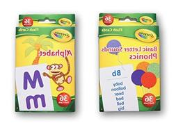 Crayola Early Learning Flash Cards - Alphabet and Phonics -