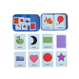 Early Learning Flash Cards, Enlightment Toy Card with Iron B
