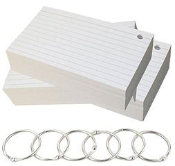 Debra Dale Designs - Ruled Hole Punched Ringed Index Cards w