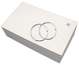 Debra Dale Designs - Ruled & Hole Punched Index Cards with R