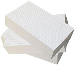 Debra Dale Designs - Ruled Index Cards - 5 x 8 Inches - Whit