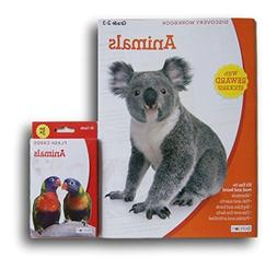 ''Animals'' Discovery Workbook with Reward Stickers and Flas