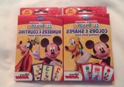 Disney Mickey Mouse Clubhouse Set Of 2 Flash Cards Color& Sh