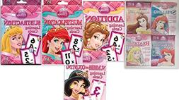 Disney Princess Workbook and Learning Cards Bundle includes