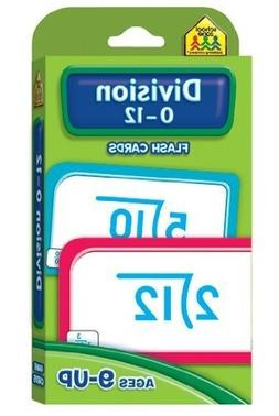 School Zone Division 0-12 Flash Cards Rounded Corners Easy S