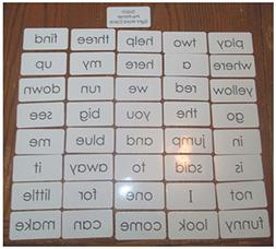 Dolch Pre-Primer sight word flash cards. Preschool and PreK