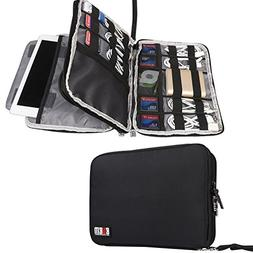 BUBM Double Layer Electronics Organizer/Travel Gadget Bag fo
