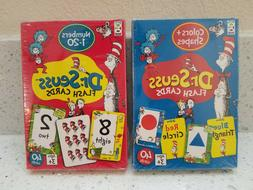 Dr. Seuss Flash Cards 2 Packs Numbers, Shapes and Colors BRA