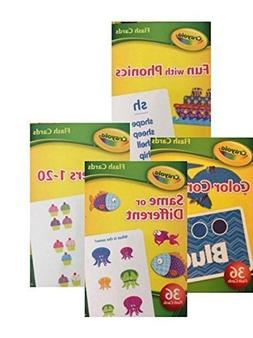 Crayola Early Learning Flash Cards - Set of 4 Packs - 144 Fl