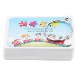 Educational Child Phonetic Flash Cards Kids Toddler Baby Lea
