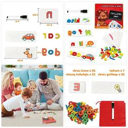 Educational Toys for 2 Year Old Girls Alphabet Flash Cards f