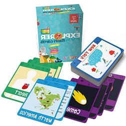 merka Kids Flash Cards - Explorer Set - 90 Cards to Learn Ab