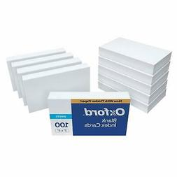 """Oxford Blank Index Cards, 3"""" x 5"""", White, 1,000 Cards"""