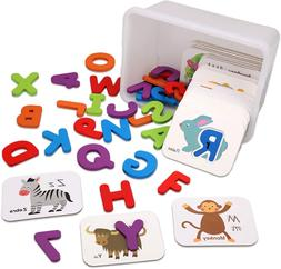 Flash Cards For Toddlers 2-4 Years - Learning Abc Wooden Let