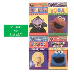 Sesame Street Flash Cards For Toddlers 3+ ABC Words Colors S