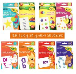Crayola Flash Cards For Toddlers 3+ Alphabet Phonics Countin