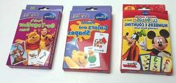Flash Cards Set of 3 DISNEY Early Skills Match Color Shape M