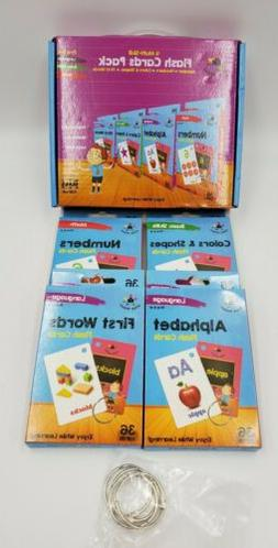 Flash Cards Set of 4  Numbers Alphabets First Words Colors S