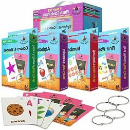 Star Right Flash Cards Set of 4 - Numbers, Alphabets, First