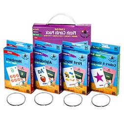 Flash Cards Set of 4 Numbers Alphabets First Words Colors &