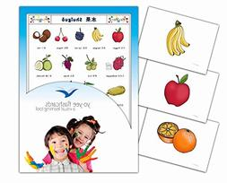 Fruit Flashcards in Chinese - Mandarin Vocabulary Picture Ca