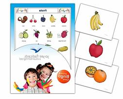 Fruit Flashcards in Spanish Language - Flash Cards with Matc