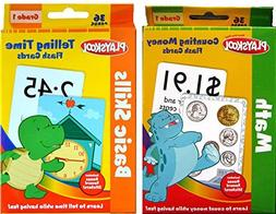 Playskool 1st Grade Flash Cards- Telling Time & Counting Mon