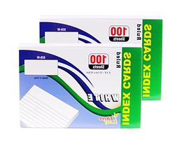 Index Cards, 4x6-Inch, Ruled, White, 100-Count per Package f