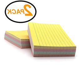 Emraw 200 Sheets Colored Index Cards - note cards index card