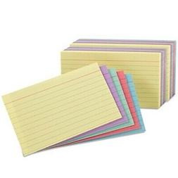 Oxford Index Cards, Assorted Colors, 5 x 8, Ruled, 2 Pack of