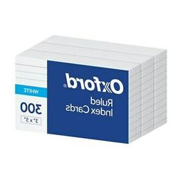 """Oxford Ruled Index Cards, 3"""" x 5"""", White, 300 pack"""