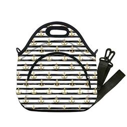 Insulated Lunch Bag,Neoprene Lunch Tote Bags,Anchor,Horizont