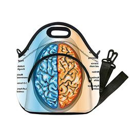 Insulated Lunch Bag,Neoprene Lunch Tote Bags,Educational,Hum